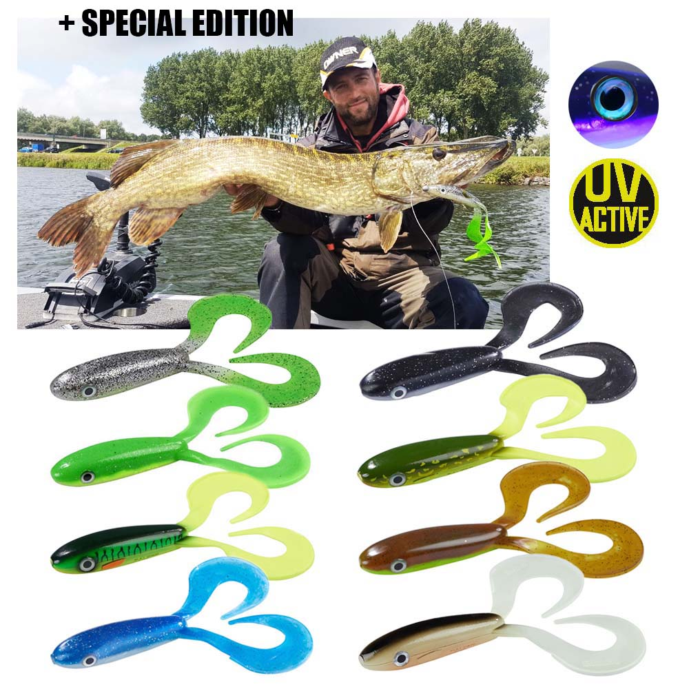 Balzer Shirasu Zander Collector 12cm 15g 8 Farben Kleiner Pike Kollector UV NEW