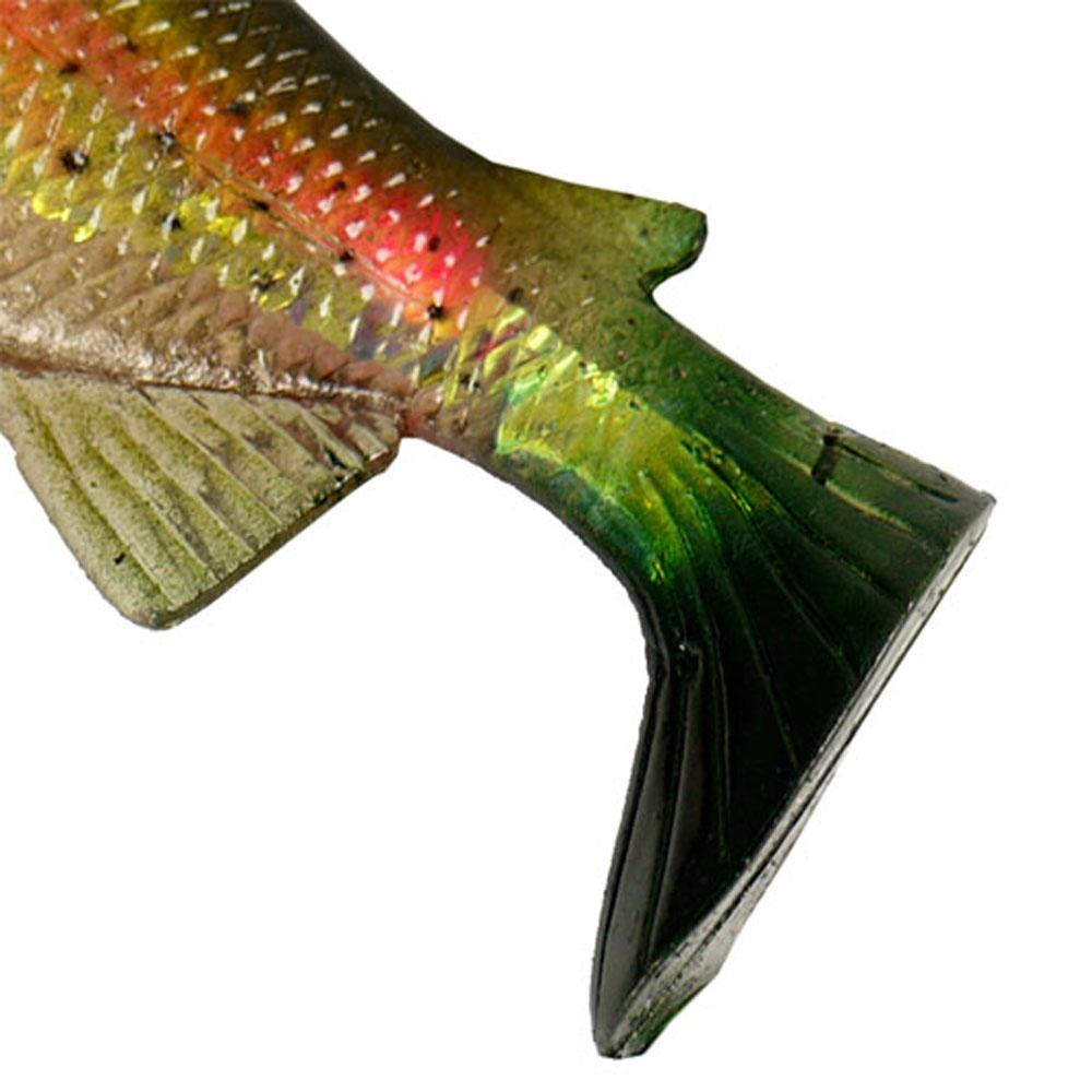 PALADIN 2x Trick-Fisch mit Haken Drilling Soft Shad Gummifisch Köder Wobbler
